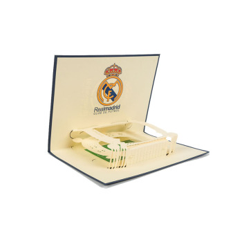 logo size custom birthday laser cutting handmade stadium cards 3d pop up greeting cards