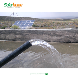 3.5m3/hour flow 40m head lift 400w solar powered water pump submersible deep well irrigation water pump