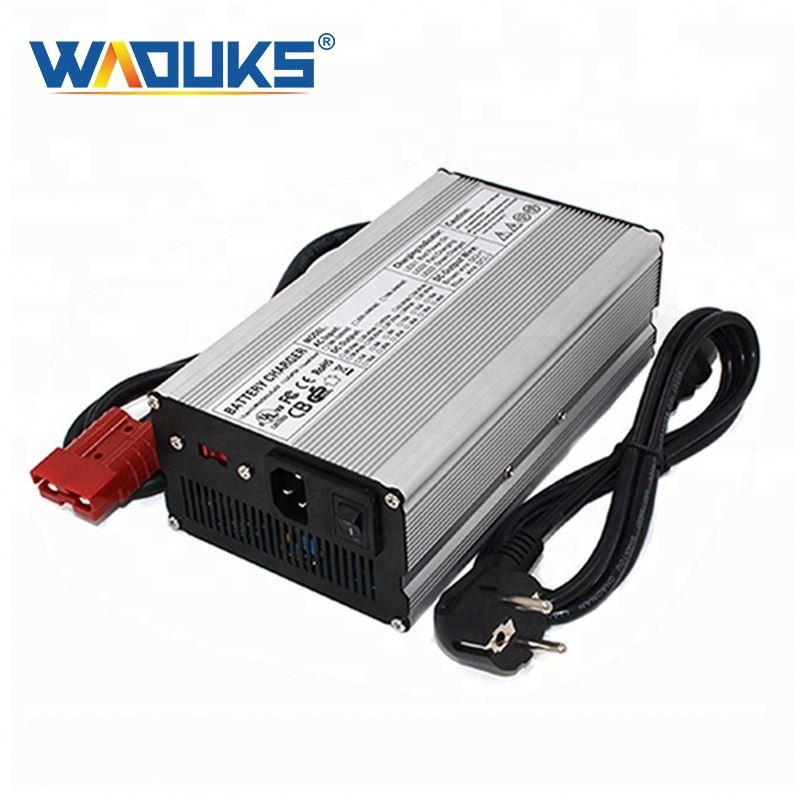 WAOUKS 29.4V 18A Charger 7S 24V Lithium Battery Pack Charger With Cooling fan Smart Charge Auto-Stop Aluminum Case