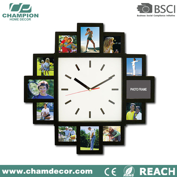 Latest 12 Photo Frame Wall Clock,Picture Wall Clock With Picture ...