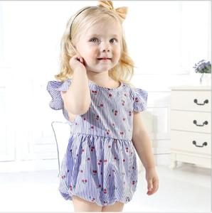 Baby Rompers Wholesale Baby Clothes Print Ruffle Baby Flying Sleeve Newborn Romper
