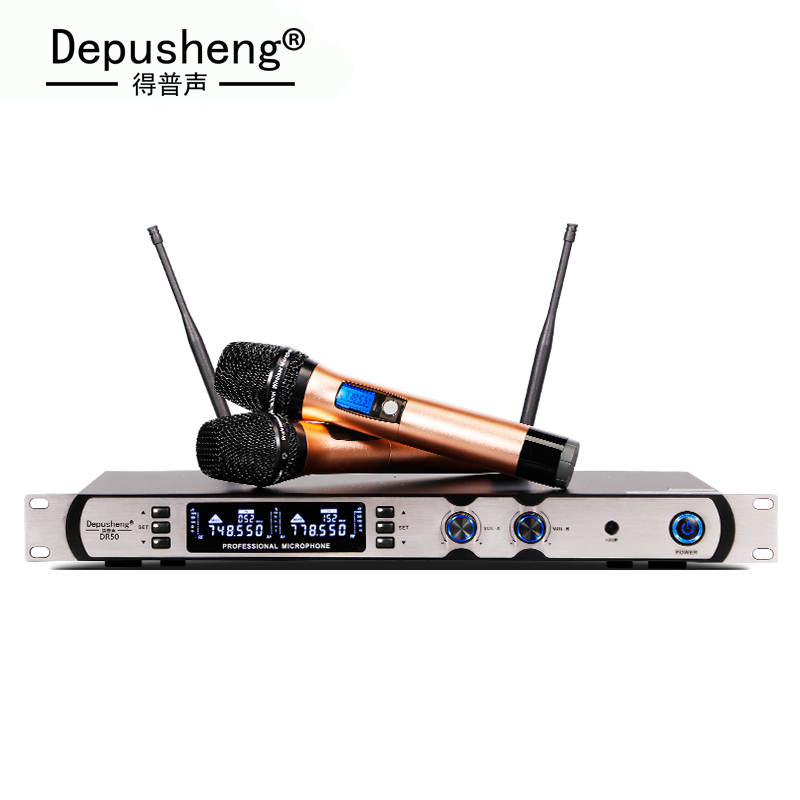 New arrival ! Professional UHF Wireless Microphone System With Two Handheld Mic. Perfect Sound For Singing фото