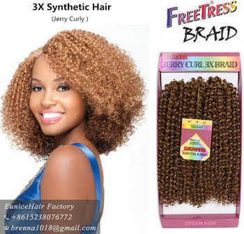 Synthetic Crochet Braids Freetress Crochet Hair Box Braiding Bulk