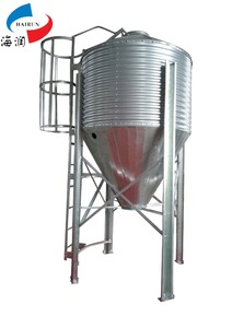 Hot Galvanized Metal Livestock Feed Silo,Poultry Feed Bins, Grain steel silo used for sale sorghum silo with conveying system