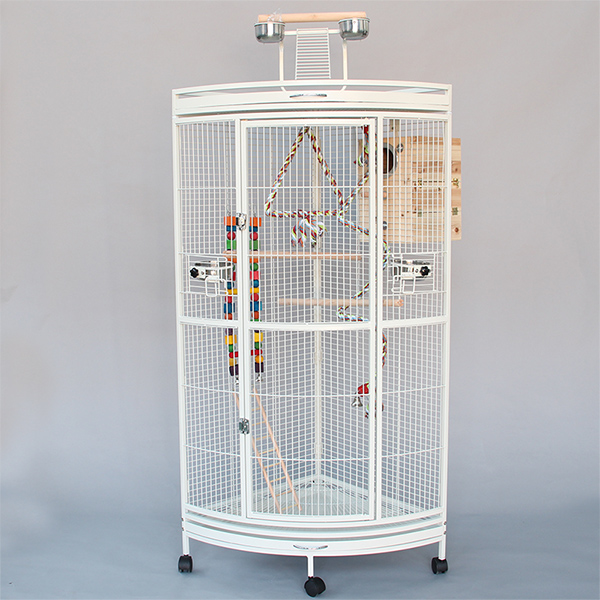 new product distributor wanted metal canary bird cage big parrot cage with wooden perches B32