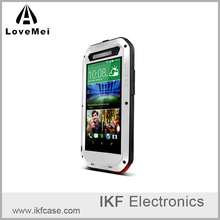 Original LOVE MEI Powerful Rugged Dropproof Metal Case For HTC One E8 Shockproof Aluminum Cover + Tempered Glass