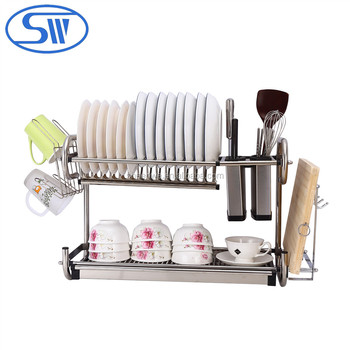 Wholesale Guangzhou Dinner Dish Drying Rack Combined Hanging Style
