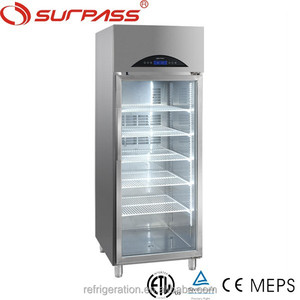 G620LFT Commercial Stainless Steel glass door Upright Fridge/freezer