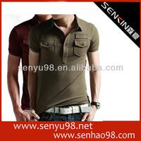 Slim fit lapei pocket original polo shirt