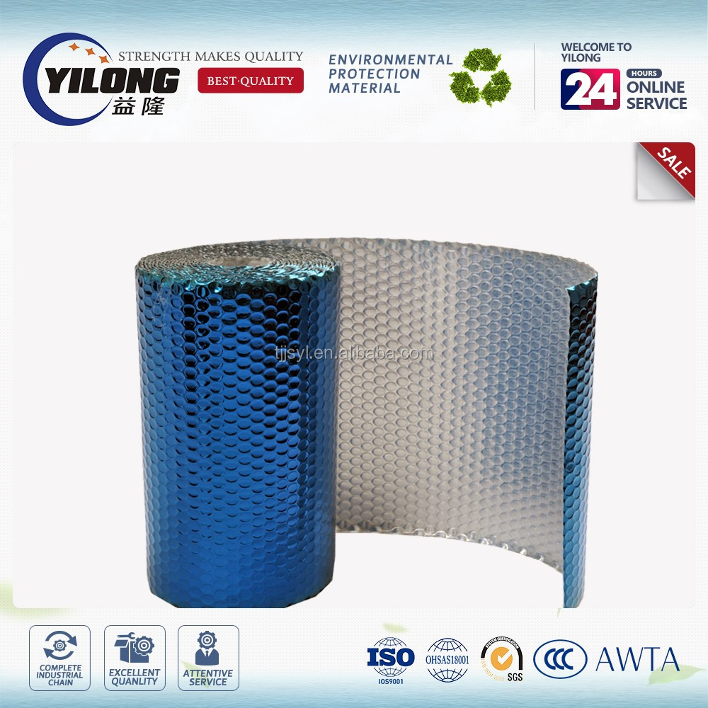 Anti glare roofing insulated aluminum foil air bubble insulation roll