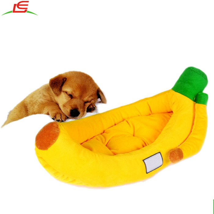 Removable Soft Puppy Home House Nest Cushion Blanket Mat Dog Cat Pet Banana Bed