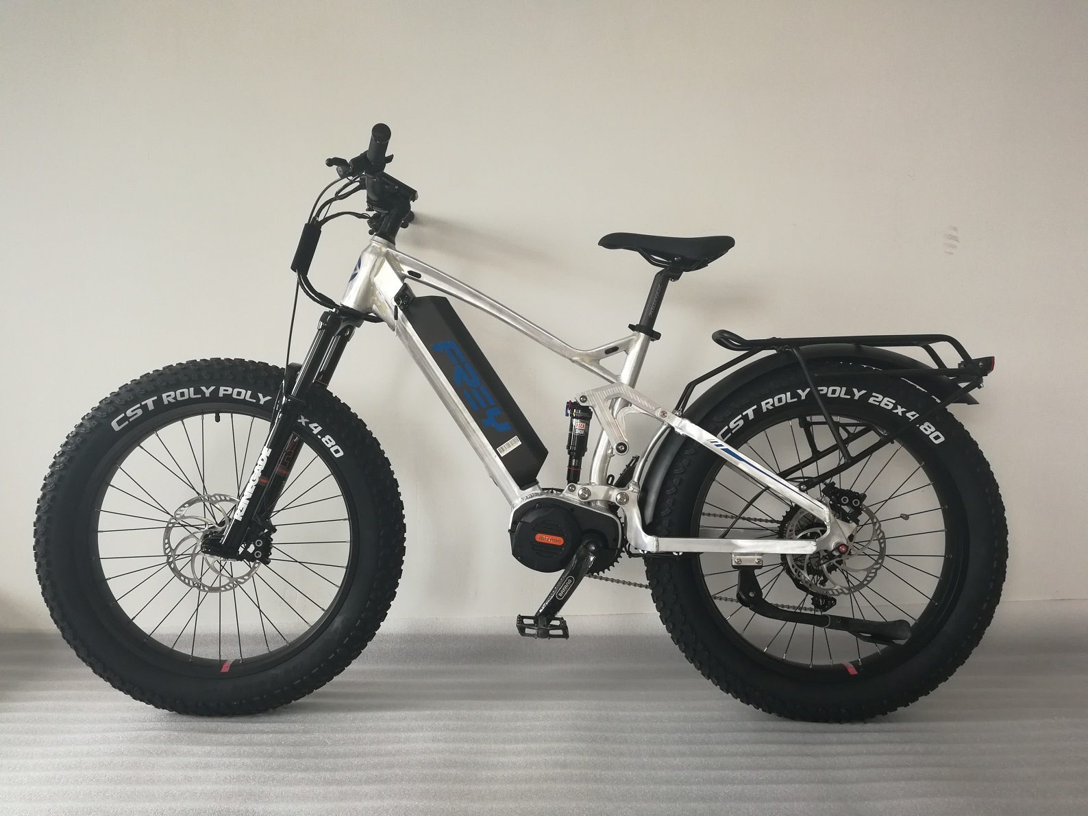 2019 FAT1000 2.0 full suspension electric fat bike developed by FREY.