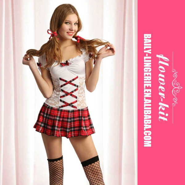 5d3a48db6822c Lovely White Schoolgirl Uniform Halloween Sexy Student Dress Wholesale