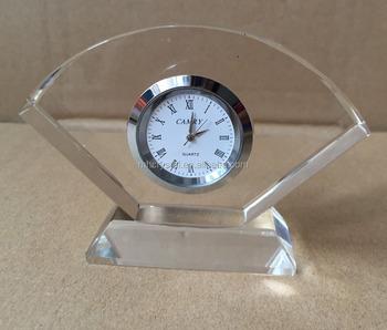 Charmant Mini Quartz Crystal Glass Table Clock MH C0189