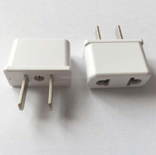 New products Hot China 2 flat pin to 2 round pin adapter plug connector , eu au to us ac power plug adapter travel converter