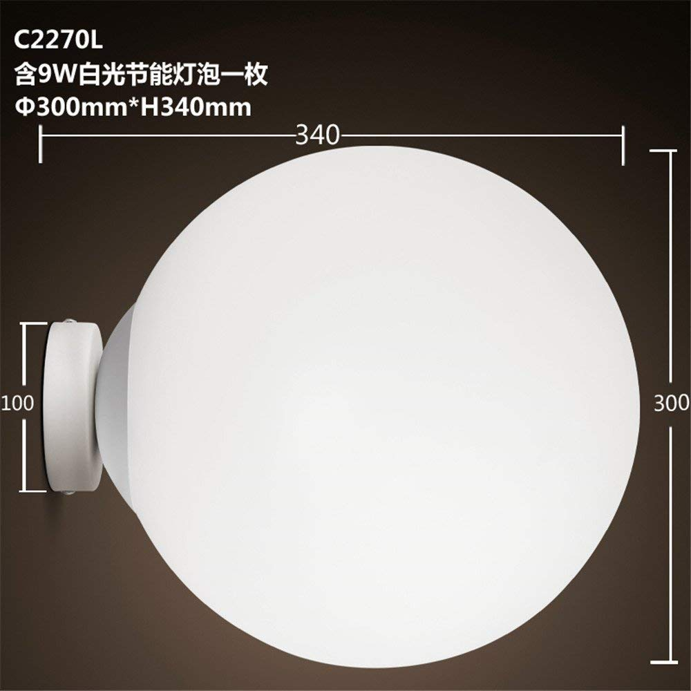 CGHYY Led Wall Mounted Bathroom Mirror Front Light Mirror Cabinet Bathroom Led Wall Lamp Waterproof Anti-Fog Bathroom Mirror Lights Orb Wall Lights Antique Fixture