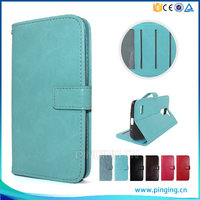 Contracted Crystal Crazy Horse Grain Photo Frame Card Slot Case For Lava Iris A1 Flip Leather Case