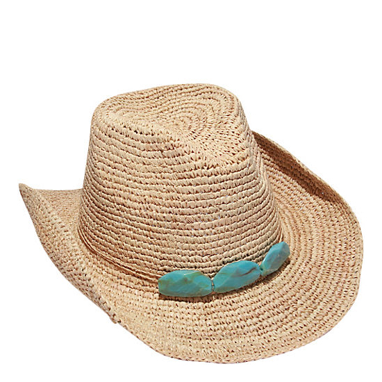 Wholesale SS17 Natural straw raffia crochet cowgirl hat