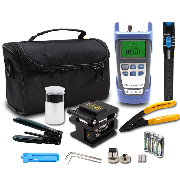 Economy Portable FTTH Fiber Optic Assembly Termination Tool Kit for Installing Fast Connector and Drop Cable