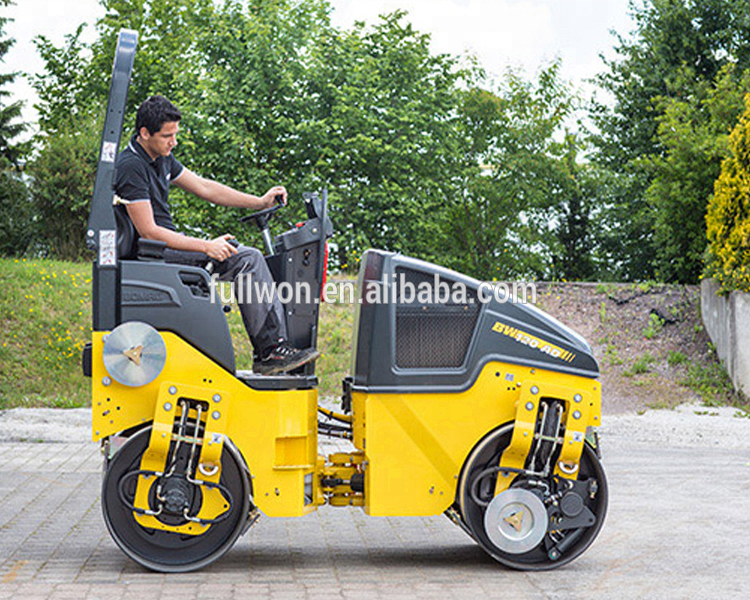 Bomag brand widely used 1 Ton double Drum steel Road Roller BW900-50