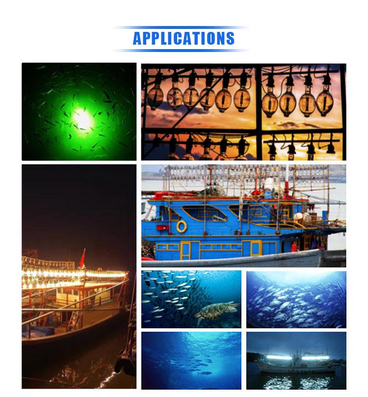 Yüksek Kaliteli balıkçılık Için Kabuk Üzerinde Tekne 1500 W Metal Halide Lamba Su Balık