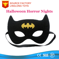 Halloween Party Costume Party Black Bat Shape Wool Felt Scary Mask