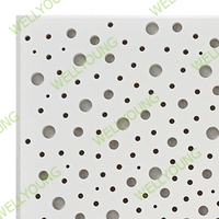 sound absorbing material plaster gypsum board for wall and ceiling