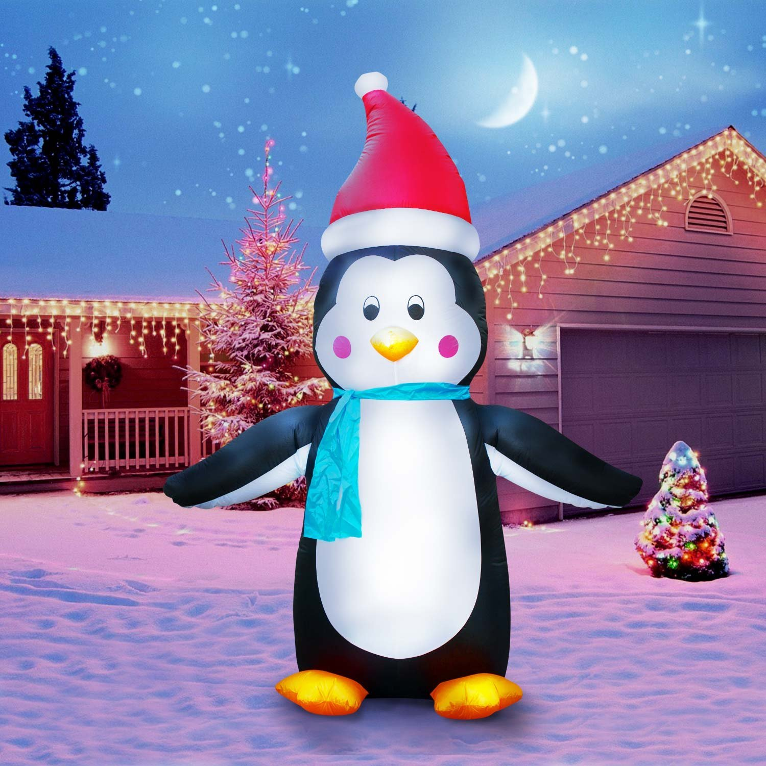 710 tall lawn christmas decorations holidayana penguin christmas decorations for outside