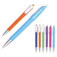 Top selle rcheap advertising plastic/metal ballpoint pen in twist-action