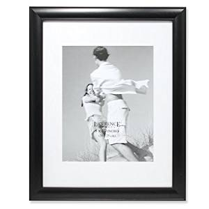 Lawrence Frames Gallery Frame with/without Mat, 8 by 10/11 by 14, Black by Lawrence Frames