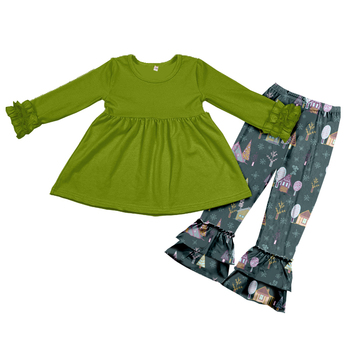 8bd11246ab5c5 Yawoo wholesale baby clothes china forest design organic cotton fashion  kids clothing girls sets