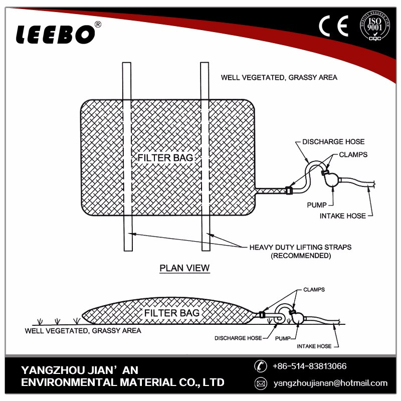 Erosion and Sediment Control Dewatering bags
