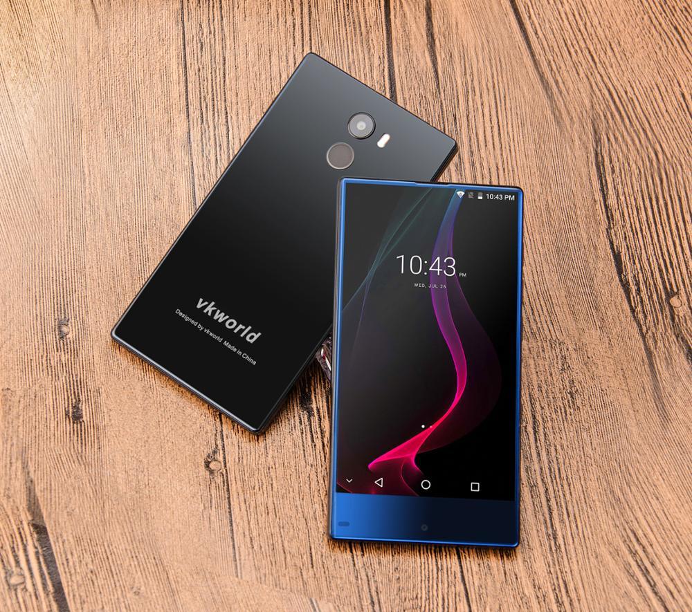 Japanese Mobile Phone Brands Vkworld Mix Plus 5.5'' MTK6737 Android 7.0 Fingerprint 4G Bezel-free Cell Phone 13MP 32G 2850mAh