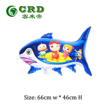 balloon animal flying fish shaped foil balloons