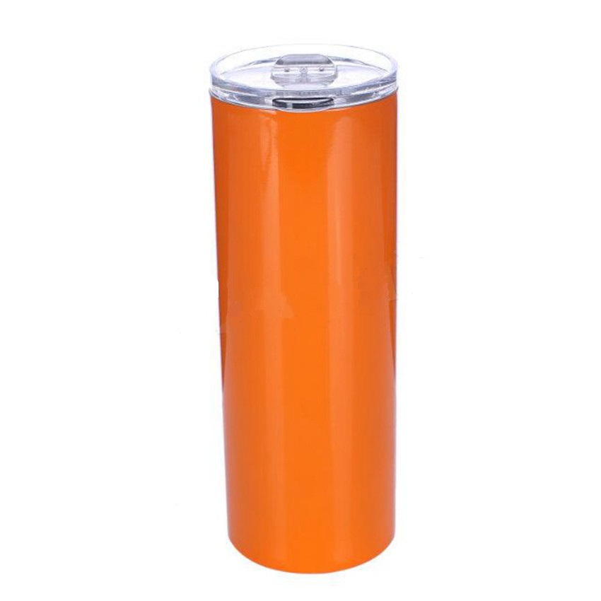 20oz Good Quality Vacuum Coffee Cup Insulated Mug Stainless Steel Skinny Tumbler with Straw