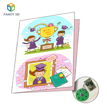 Zebulun Hot Full Color Custom Graduation Printing Writable Talking Music Greeting Cards