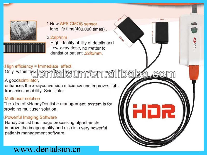 1.9 million pixel Digital xray sensor Rvg Hdr 100/200 Handy X ray Sensor