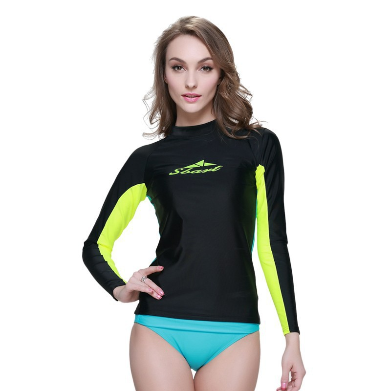 9db59e38a7 Buy Sbart upf50 woman rashguard lycra surfing diving suit wet suit for  diving swimming and surfing , surfing swimsuits for women in Cheap Price on  Alibaba. ...