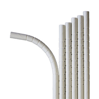 Eco-flex disposable bendy stripe paper straws for restaurants