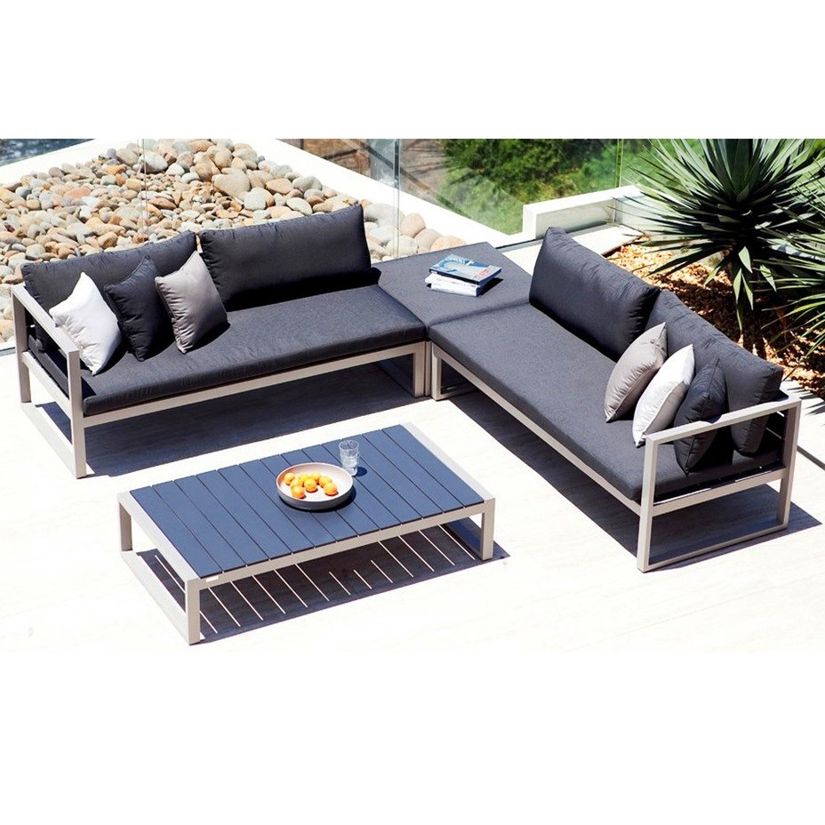 Modern european sun fun luxury cheap aluminum sofa legs garden furniture outdoor