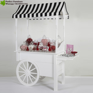 Hot Sale Wooden Candy Cart For Indoor And Outdoor