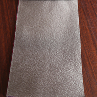 Unique Dubai star hotel polyester woven curtain fabric with crushed silk drapery