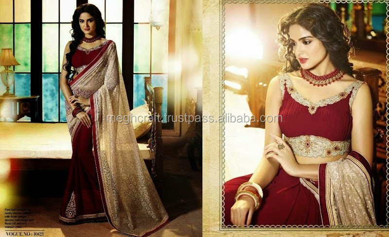Ethical Indian Party Wear Traditional Bollywood Saree-Designer Women Bridal Wedding Saree-Wholesale net saree