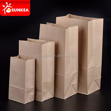 Food grade brown kraft stand up paper bag for poulet roti packing