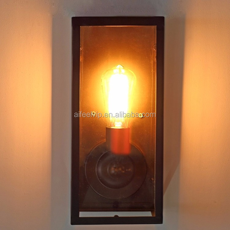 Outside waterproof vintage industrial Iron designer wall fancy lamp for garden