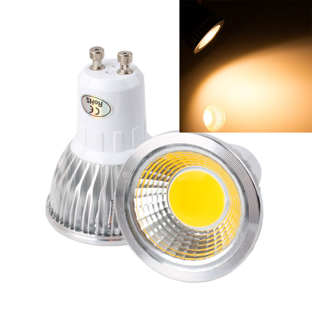 Dimmable 6W 9W 12W GU10 COB LED Lamp Light Spotlight 110V 220V Cold Warm White AC 85-265v 5pcs/lot