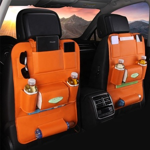 PU Leather Car Seat Back Organizer Mini Toys Holder Car Backseat Organizer for Kids Storage Bottles and Tissue Box