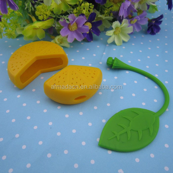 Latest High quality Lemon shaped silicone infuser tea