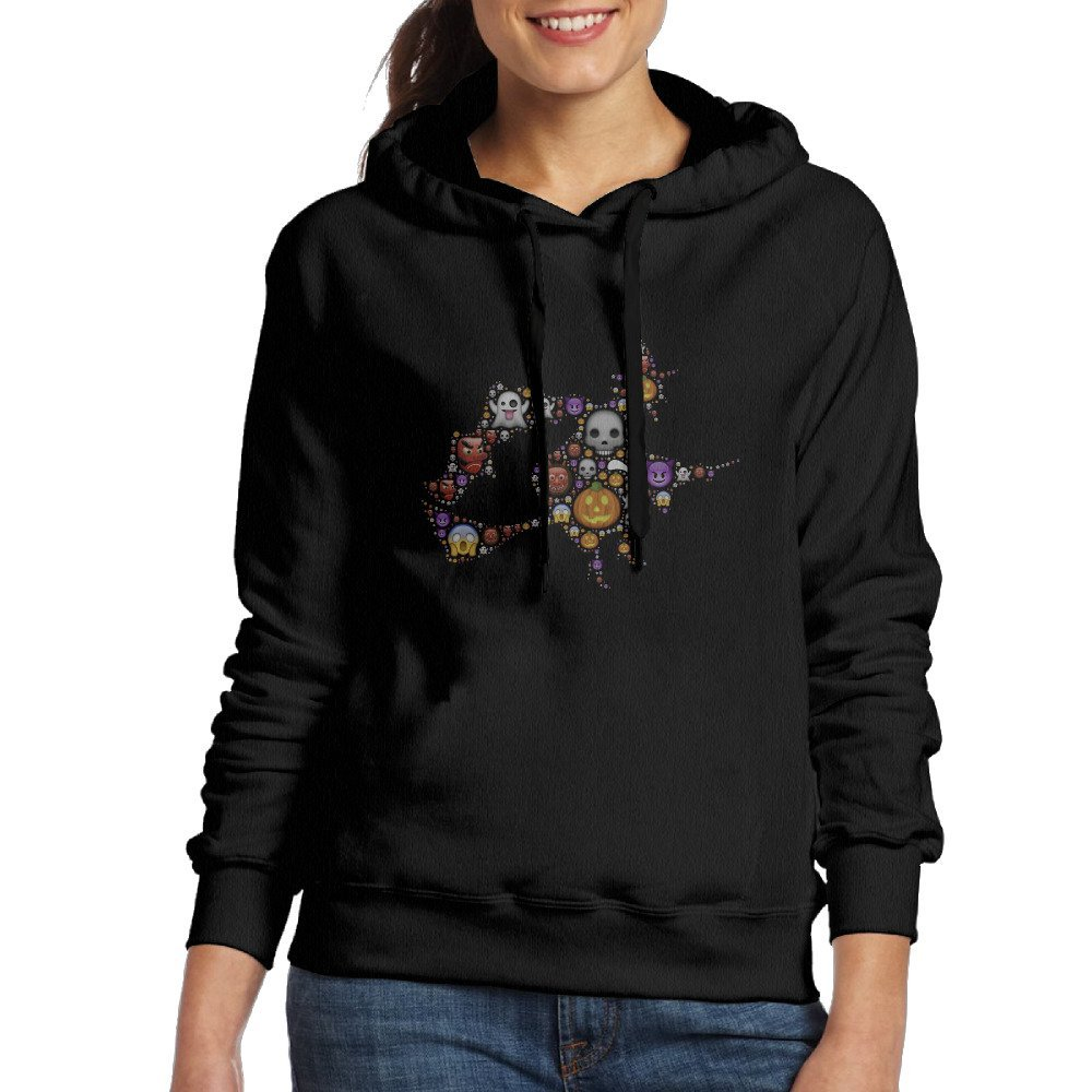 get quotations womens colorful cute happy halloween witch hoodie sweatshirt