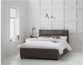 Fabric Lift Up Double Bed Frame Dark Grey Colour Bedframe Bedroom Furniture Product